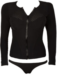Black long sleeve womens rashguards