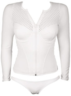womens white long sleeve rashie