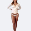 Womens white long sleeve rash guard