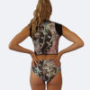 anemone crop vest with high waist bikini bottoms