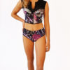 anemone crop vest with brazilian bikini bottoms