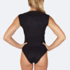 cap sleeve one-piece swimsuit