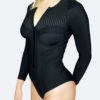 long sleeve one piece swimsuit, sun protection, underwire rash guard, sunsafe