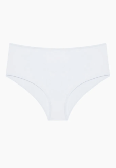 WOMEN'S WHITE HIGH WAIST BIKINI BOTTOMS